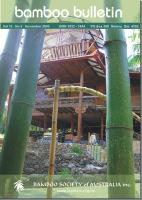 Bamboo Bulletin Nov 2008
